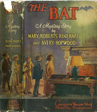 The Bat facsimile dust jacket by Lady Bluestocking
